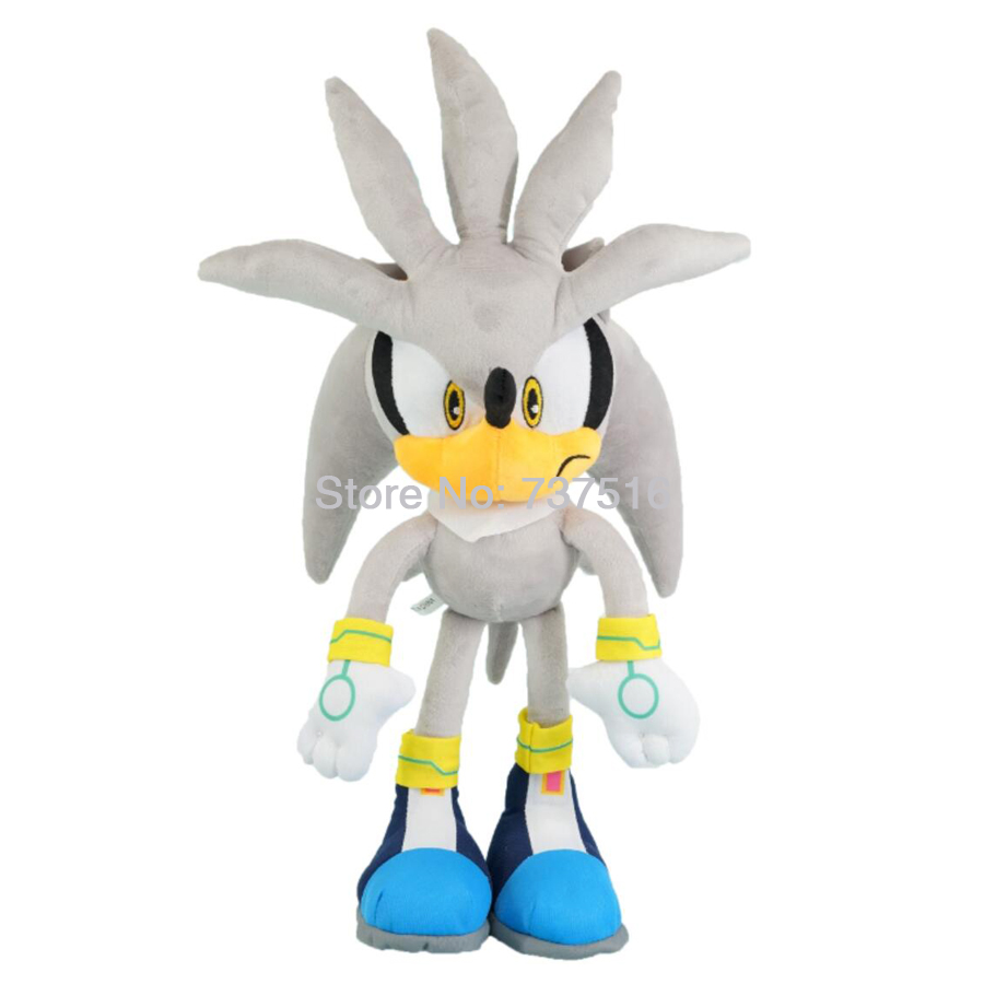 New Sonic Series Big Silver the Hedgehog Soft Doll Plush Justice Flight Silva Stuffed Animal Toys 20 inches
