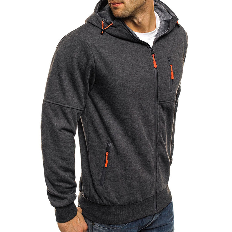 New Covrlge Spring Men's Jackets Hooded Coats Casual Zipper Sweatshirts Male Tracksuit Fashion Jacket Mens Clothing Outerwear MWW148