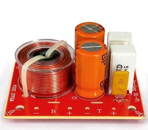 Image 1 - 2pcs 80w 2 way hi fi áudio agudos graves alto falante divisor de freqüência estéreo filtros crossover para 4 8ohm alto falante