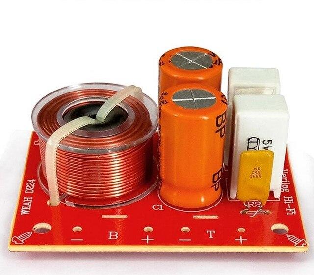 2pcs 80w 2 way hi fi áudio agudos graves alto falante divisor de freqüência estéreo filtros crossover para 4 8ohm alto falante