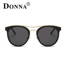 DONNA New Fashion Luxury Brand Sunglasses Women Vintage Mirror Sun Glasses Double Bridge Sunglasses For Women Oculos De Sol D39