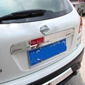 Para Nissan Qashqai Dualis 2007 2008 2009 2010 2011 2010 2013 ABS Chrome Rear Trunk Lid Recortar Protector de Puerta Trasera (NO ojo de la cerradura) 1 unids