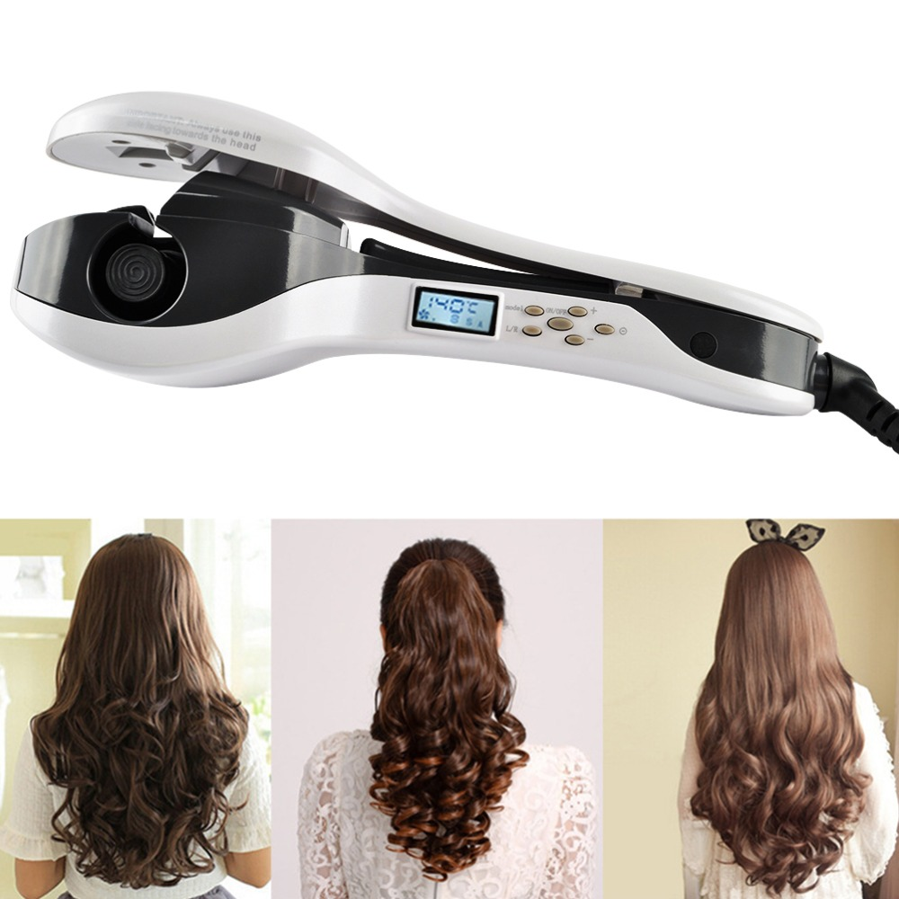 Professional Automatic Salon Ceramic Hair Curler Iron Wand