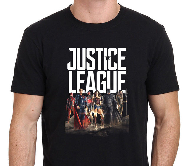 5d9f857e26d T Shirt Quotes Justice League Superman Batman Wonder Woman Crew Neck  Broadcloth Short T Shirt For Men