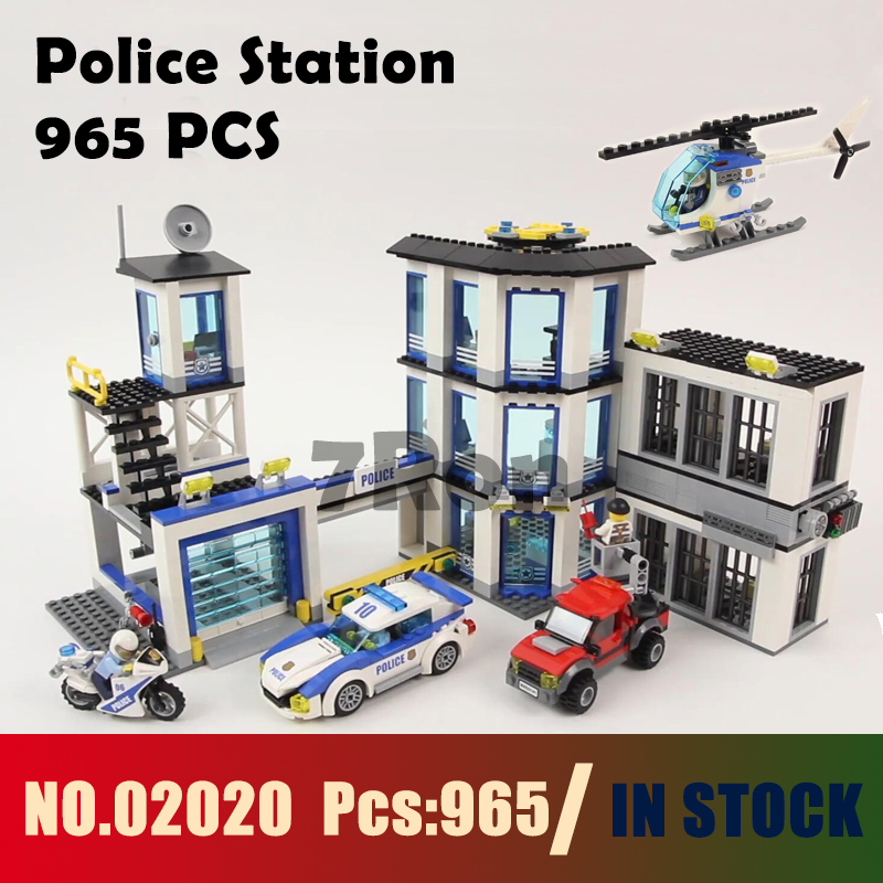 Compatible with lego City Series 60141 965Pcs Models building kit Police Station Educational DIY Bricks toys & hobbies 02020