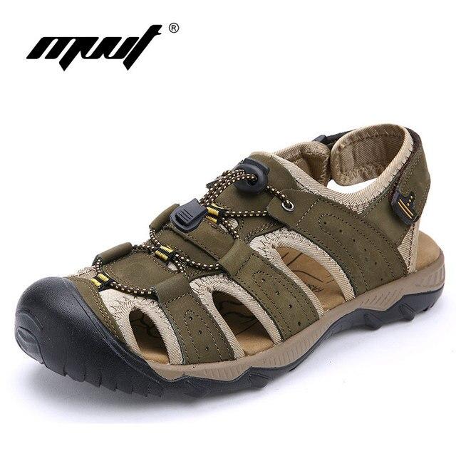 New 2016 Summer Sandals men Outdoor Platform Shoes Summer Beach Shoes Soft Walking Shoes Leisure Leather Sandals