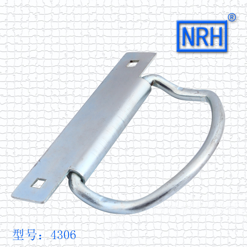NRH4306 wooden box handle Packing box handle Industrial transport box handle Iron material Galvanized nrh4207 air box handle aluminum box wooden box ring toolbox handle chrome plated iron no spring function