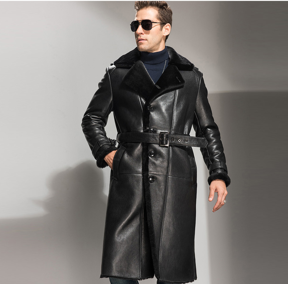 Popular Men Shearling Coat-Buy Cheap Men Shearling Coat lots from ...
