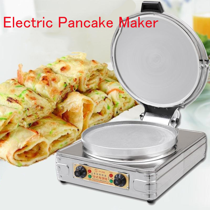 Electric Pancake Maker Round Pancake Skillet Commerical/Household Pancake Cooker Double-sided Pancake Heater DY-20 skillet skillet unleashed lp cd