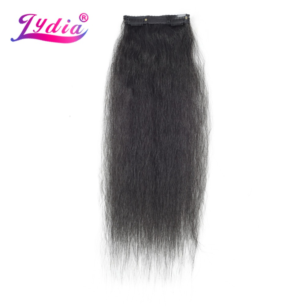 HTB1sUKaL9zqK1RjSZFpq6ykSXXa4 - Lydia 8Pcs/set 18 Clips In Hair Hairpieces 16-20 Inch Kinky Straight Long Synthetic Heat Resistant Hair Extensions Bundles