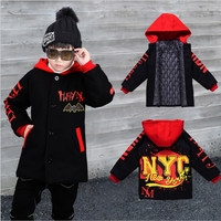 2018 Big Boys Winter Jacket Baby Coat Children Outerwear Warm Teenager Clothes Kids Parkas Toddler Long Cotton Jackets Boy Coat