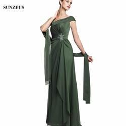 Новое поступление шифон мать невесты платья Вечерние платья Длинные Жених Мать Вечерние Платье Для женщин CM0113