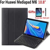 Cassa della Tastiera Per Huawei Mediapad M6 10.8 2019 Tablet Cassa di Cuoio Sottile Astuto per Huawei M6 10.8 Copertura Della Tastiera + regalo Penna Pellicola