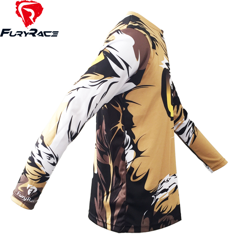 b68e661a704 FURY RACE 2017 Motorcycle Offroad Cycling Clothing Men Owl Printing DH BMX  Downhill Jersey Mountain Bike MTB Racing Cycle Shirts-in Cycling Jerseys  from ...