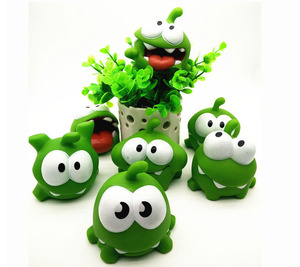 Image 3 - 1Pcs Rope Frog Vinyl Rubber Android Games Doll Cut The Rope OM NOM Candy Gulping Monster Toy Figure Baby BB Noise Toy