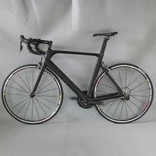 Fabryka Tantan 700C rower szosowy z włókna węglowego kompletny rower rowerowy BICICLETTA rower szosowy SHIMAN 4700 20 prędkości Bicicleta tanie tanio SERAPH Unisex 150-190cm 8 2KG 0 1 m3 Gumowy odporność (medium biegów bez tłumienia) Zwyczajne pedału Rama twardego (nie tylny amortyzator)