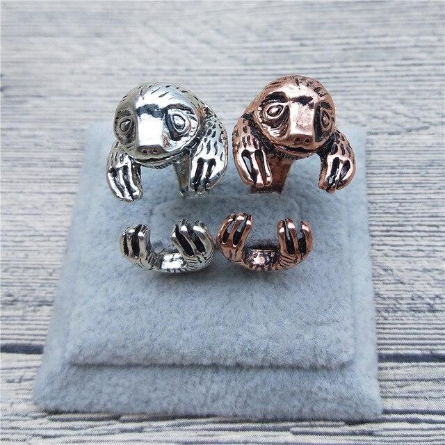 9f9ccf1a9 New Vintage Retro Sloth Rings Classic Adjustable Sloth Rings Jewellery  Animal Sloth Jewellery