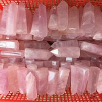 1kg beautiful 100% natural pink rose quartz Crystal gemstone single point Metaphysical Healing love stone wand as gift wholesale