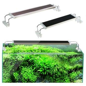 80 90 100 120 см SUNSUN ADS освещение для аквариума аквариумные растения ультра тонкий супер яркий зажим Светодиодная лампа для аквариума 110 В 220 В