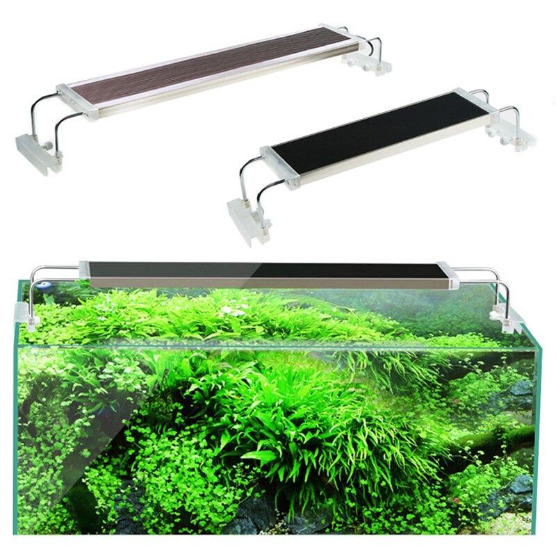 80 90 100 120 cm SUNSUN annonces lumière de réservoir de poisson pour Aquarium plante aquatique Ultra mince Super lumineux Clip lampe de LED pour Aquarium 110V 220V
