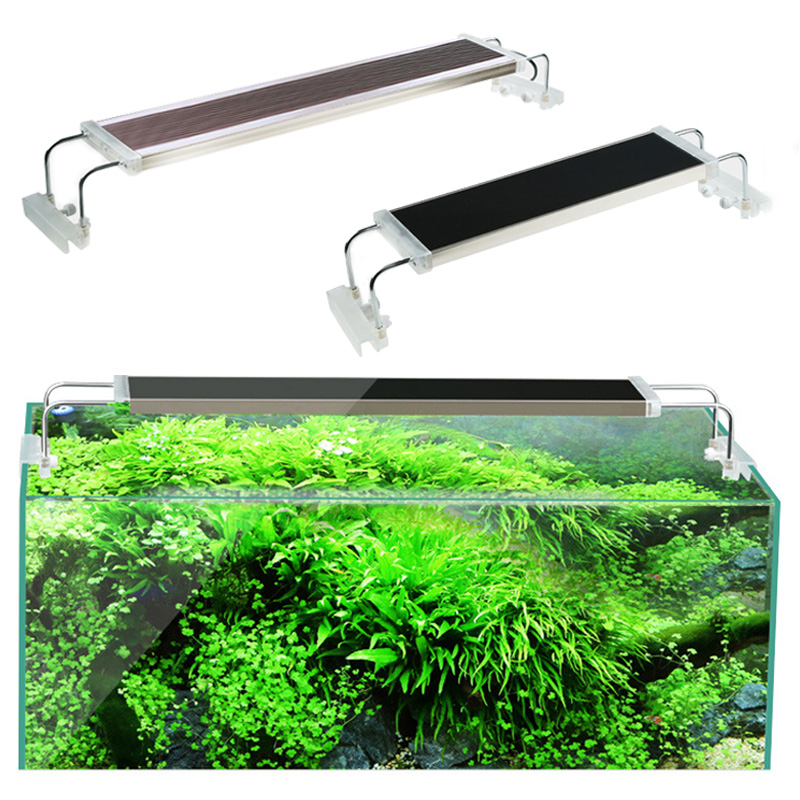 80 90 100 120 cm SUNSUN poisson réservoir lumière pour Aquarium plante aquatique Ultra mince Super lumineux Clip LED pour Aquarium Lampe 220V 24-90W