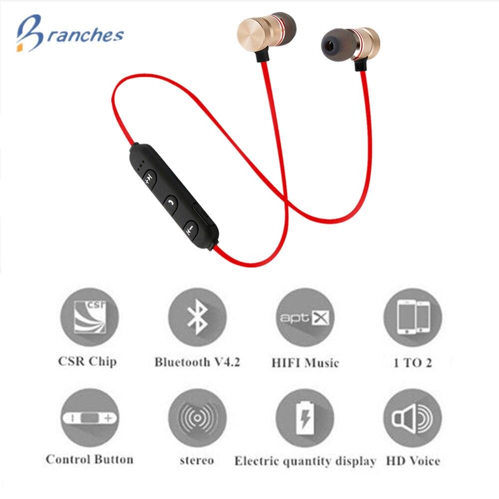 Bass Bluetooth Earphone Wireless Earphones With Mic Magnetic in ear Bluetooth Earbuds Headset For Mobile Phone Sports kulakl k