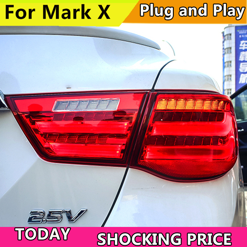 Car Styling for Toyota Reiz Mark X Tail Light Assembly 2010 2011 2012 LED Taillight Rear Lamp Driving+Brake+Park+Signal Light