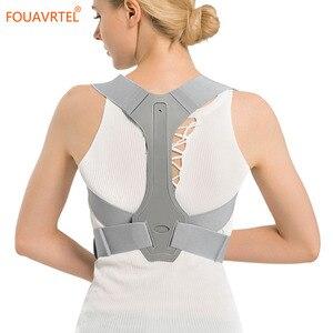 Image 4 - Fouavrtel 調整可能なバック姿勢コレクター鎖骨背骨バックショルダーサポートベルト疼痛緩和バック姿勢補正ユニセックス