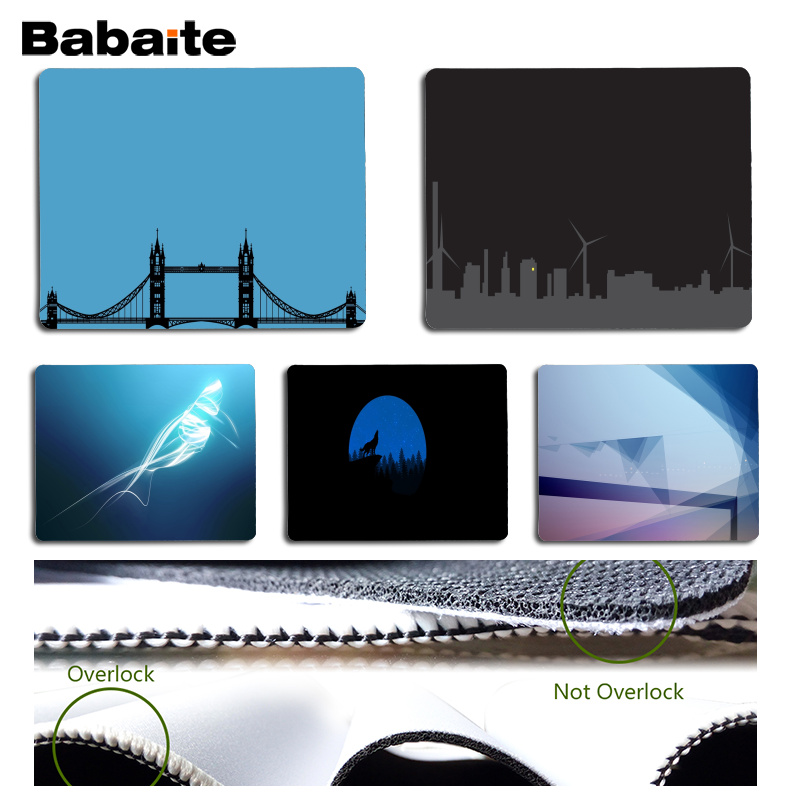 Babaite New Designs Minimalism Computer Gaming Mousemats Size for 180x220x2mm and 250x290x2mm Small Mousepad