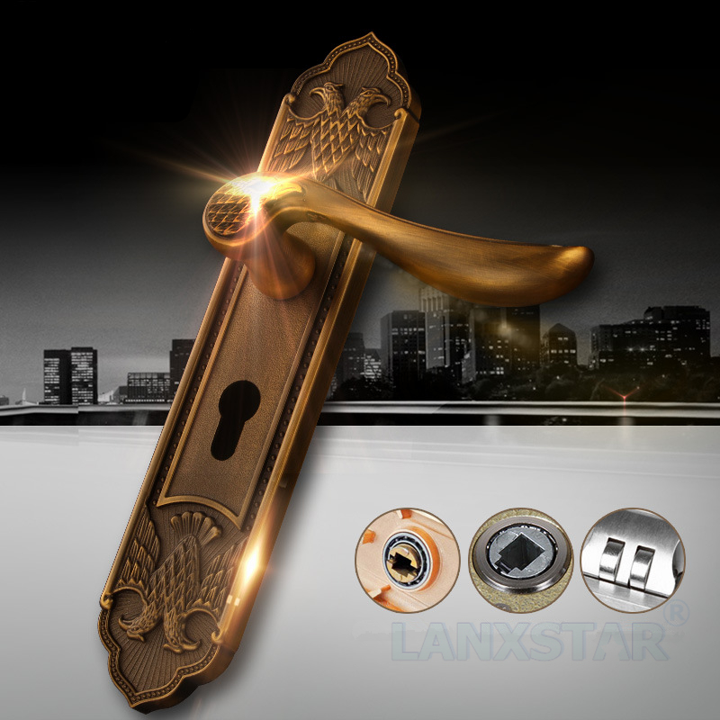 European Luxury High-end Modern Indoor Suit Door Lock Solid Wood Room Door-lock Mute for Deluxe Handle Locks рубашки karflorens рубашка