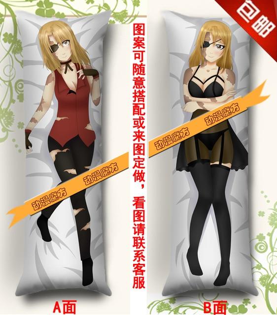 Japan Anime Knuffelen Body kussensloop Perzik Huid 150*50 Baccano Mooie Holystone