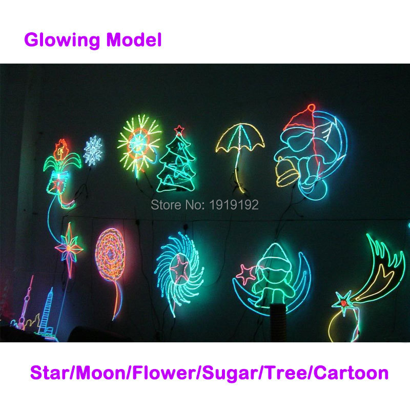 1.3 мм 1 м 4 штуки EL электролюминесцентный провод гибкий неон бордовый EL холодный свет для одежды игрушки/ ремесло украшение партии