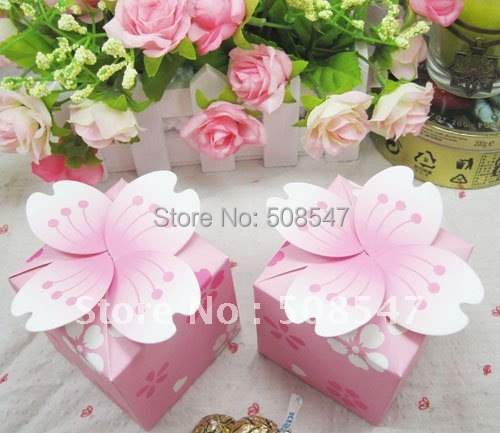Christmas Candy Box Japan Style 100pcs Pink Cherry Blossom