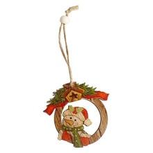 6pcs/lot Cute Wooden Christmas Tree Decoration Ornaments Xmas Hanging Pendants