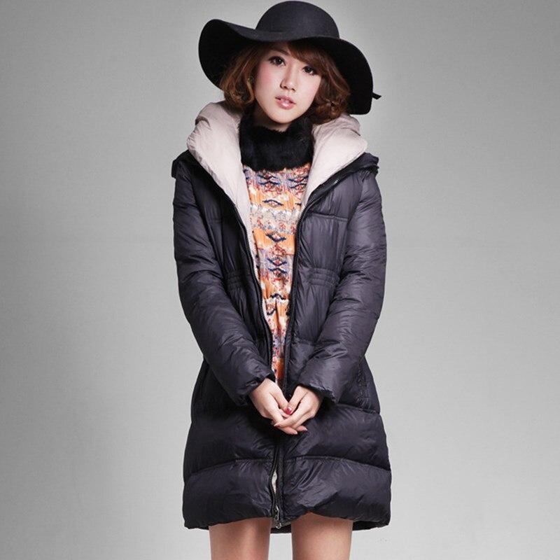 2016 European Italy Style New Winter Women Velvet Jacket Long Womens Down Coat Fashion Quality Clothes Warm Parkas JY-1167