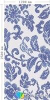 Керамика мозаика для украшения дома плитки мозаики головоломки белый и синий размер 1200xH2500mm