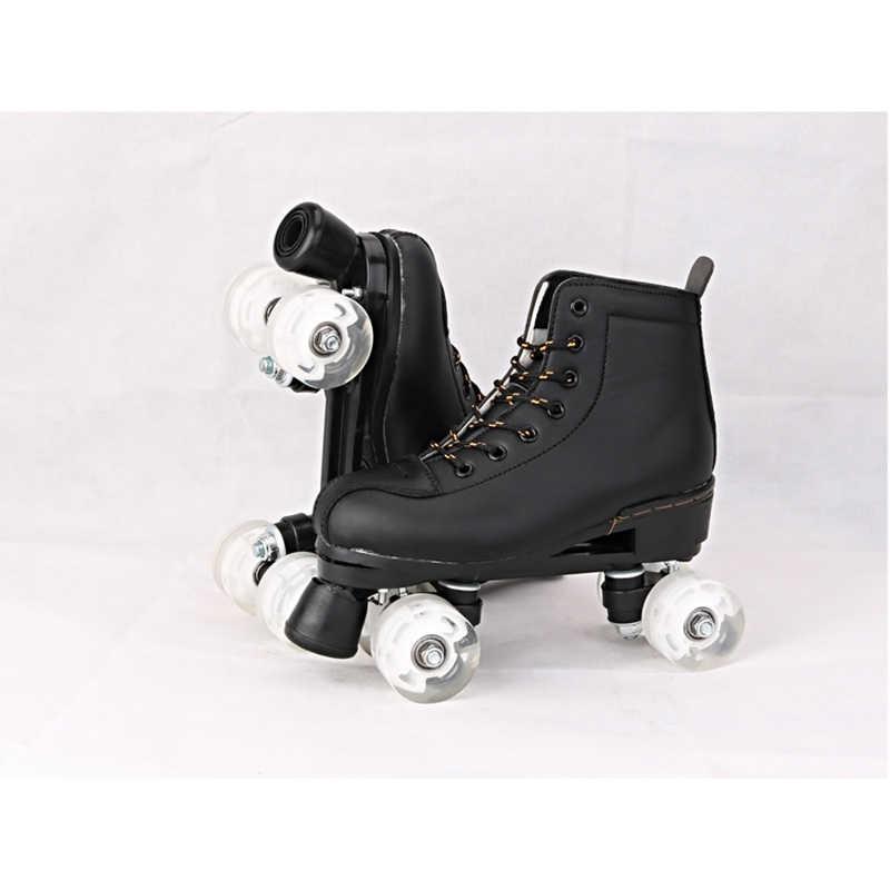 BSTFAMLY Adult Double Row Skates Roller