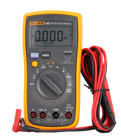 Fast arrival Fluke 18B+ F18B+ AC DC Voltage Current Digital Multimeter DMM with LED Tester wharfedale pro delta f18b