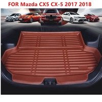 Car Rear Boot Liner Trunk Cargo Mat Tray Floor Carpet Mud Pad Protector FOR Mazda CX5 CX 5 2017 2018 Car styling