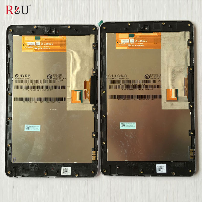 R&U test good lcd screen display touch screen digitizer assembly with frame for ASUS Google Nexus 7 1st gen 2012 ME370T me370 7 inch for asus me173x me173 lcd display touch screen with digitizer assembly complete free shipping