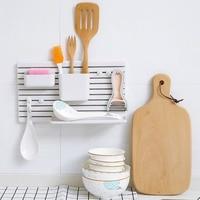 Plastic Toothbrush Storage Shelf Adhesive Type Wall Mounted Toilet Bathroom Washbasin Kitchen Sorting Rack Holder Shelf