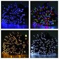 Светодиодные Строки Свет 22 М 200 Светодиодов Солнечный Свет Строка Открытый Фея Лампы Водонепроницаемый Открытый Свет Украшения Рождественские Огни