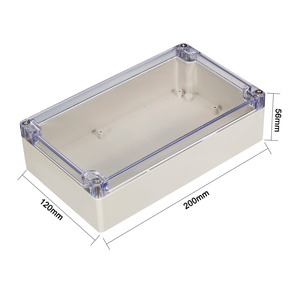 Image 4 - Uxcell 200x120x56mm Wateproof Electronic  Junction Project Box ABS Plastic DIY Enclosure Case Outdoor/Indoor Boxes 158x90x60mm