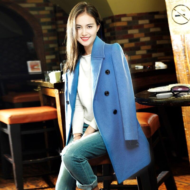 Aliexpress.com : Buy Light blue wool coat autumn / winter women's ...