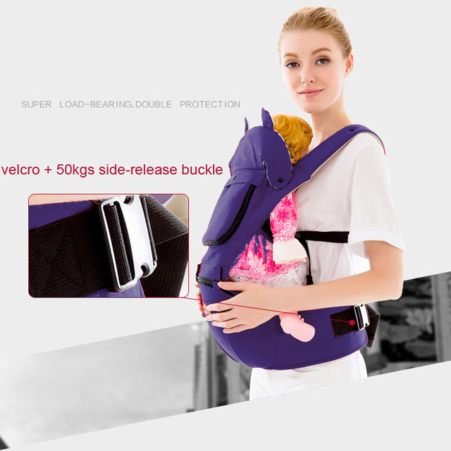 Comfy & Sturdy Ergonomic Baby Carrier – navy blue