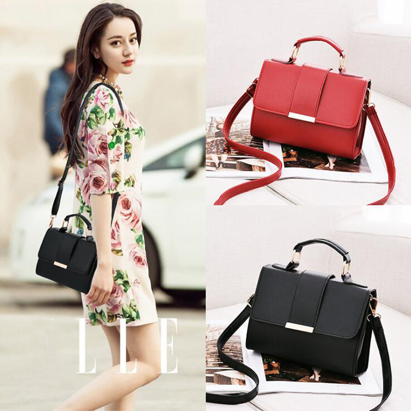 2020 New Women Bag Leather Handbags PU Fashion Shoulder Bag Small Square Package Crossbody Bags for Women Messenger Bags