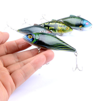 цена на 1Pcs 8.5cm/14.6g Wobblers VIB Sea Fish Fishing Lure Hard Baits Crankbait Artificial Pesca Isca With Hooks For Fishing Equipment