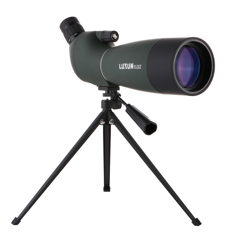 HD Spotting Scope 25-75x70mm BAK4 Zoom 45 De Nitrogen Hunting Birdwatch Monocular Telescope bijia 30x42wa nitrogen water resistant hd high powered scope monocular telescope black