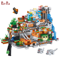 1315pcs Minecrafted Mountain Cave Castle Model Building Blocks Action Figures Compatible Legoe Minecraft City Bricks Child Toys