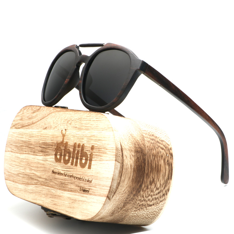 Ablibi New 2018 Sunglasses Polarized Wood Shades for Men Womens Designer Glasses Wooden Bamboo Sunglasses in Wood Box